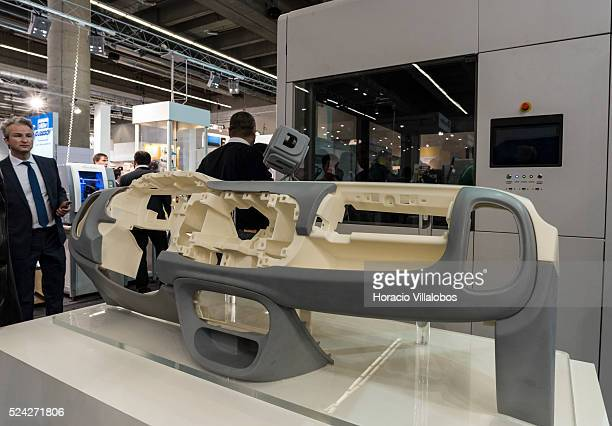 3D generated Fiat 500 front pannel in Euromold 2014 Frankfurt Germany 27 November 2014 EuroMold is the world trade fair for Moldmaking and Tooling...