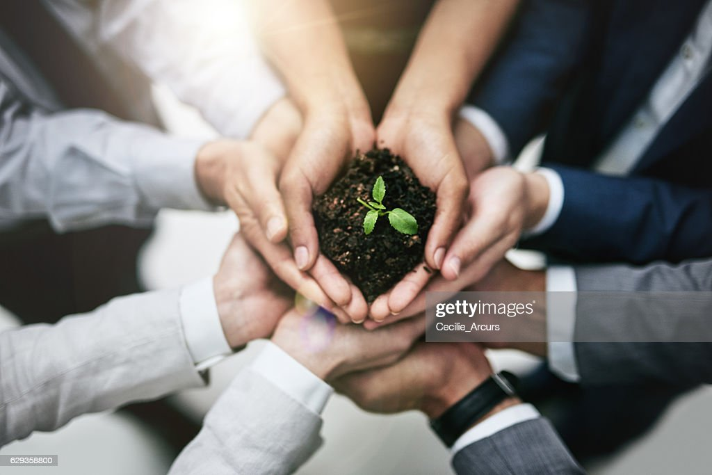 Generating growth by joining forces : Stock Photo