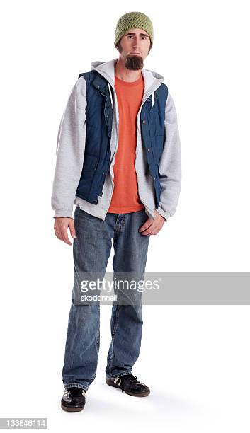 Generation X Man Standing on White