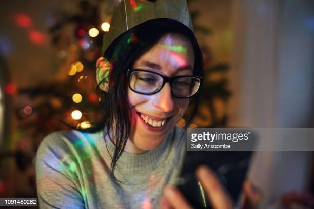 generation z christmas party - ディスコ照明 ストックフォトと画像