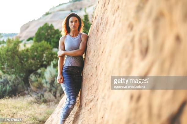 Generation Z Female Outdoors in Nature in Western Colorado on a Summer Golden Hour Evening