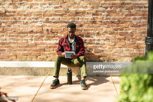 generation z male of african ethnicity photo series - african american culture stock pictures, royalty-free photos & images