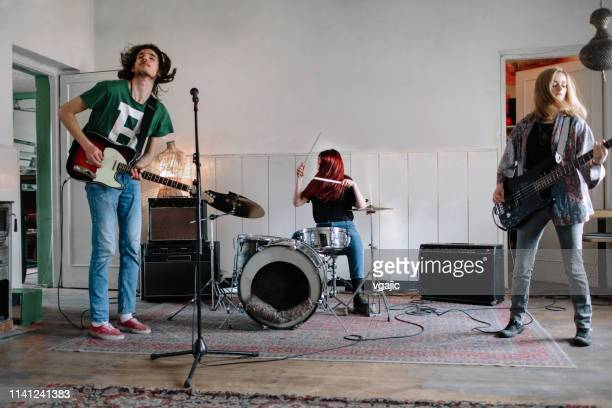 generation z music band on rehearsal - performance group stock pictures, royalty-free photos & images