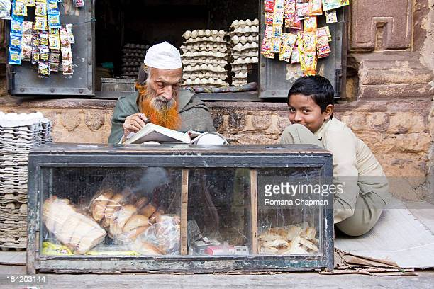 Generations apart, but selling from one stall. It is still very common in rural India to look after the elderly in the family and show them utmost...