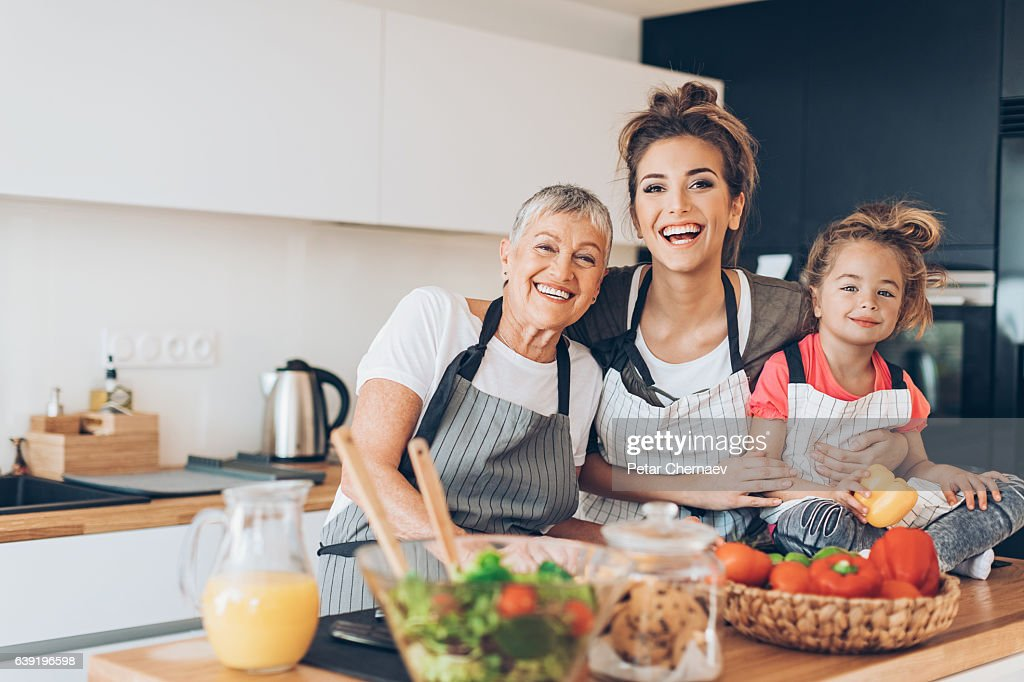 Generations of femininity : Stock Photo