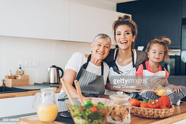 generations of femininity - beautiful granny stock photos and pictures