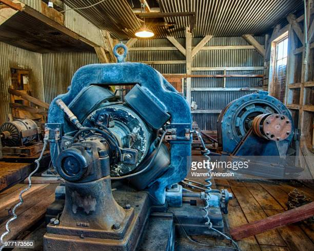 generator room interior, bodie state historic park, california, usa - weinstein stock pictures, royalty-free photos & images