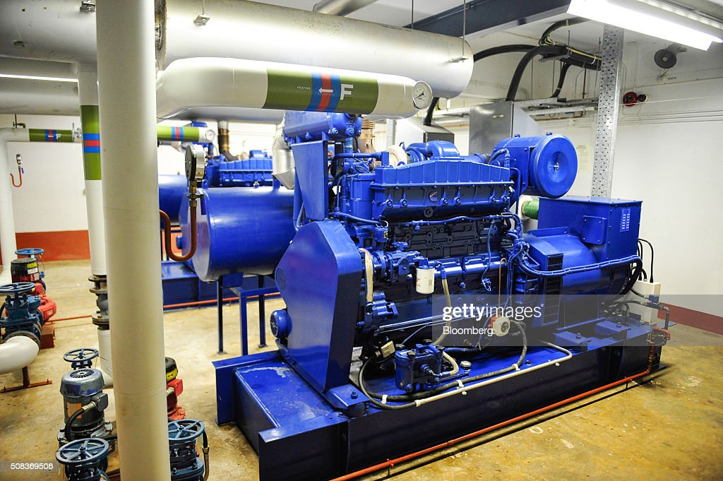 A generator sits inside a former regional government nuclear bunker