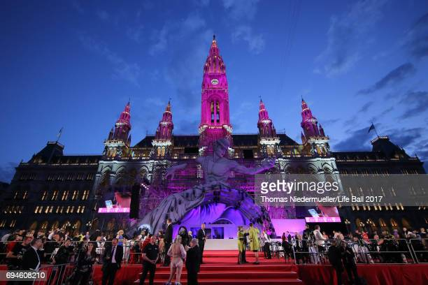 Genereal view during the Life Ball 2017 at City Hall on June 10, 2017 in Vienna, Austria.