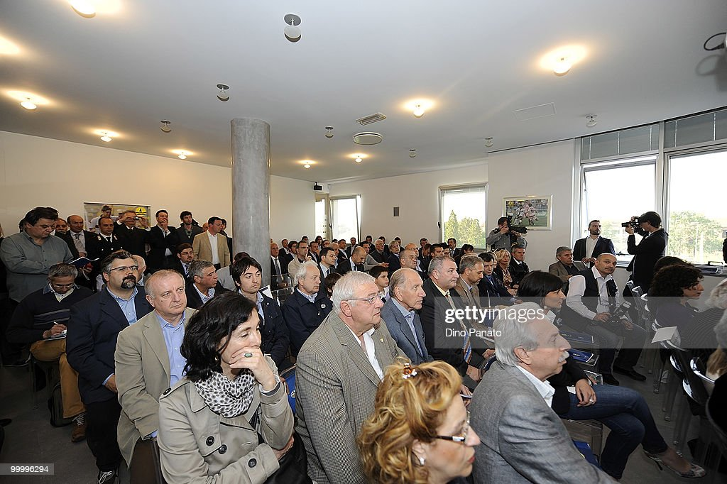 A genereal view of a press conference as Parma FC and Navigare announce the renewal of their sponsorship deal on May 19, 2010 in Rio Saliceto near Carpi, Italy.
