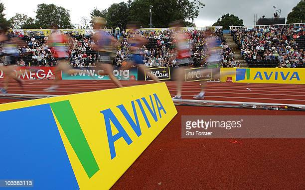 Generic action during the boys 3000 metres race during the Aviva London Grand Prix at Crystal Palace on August 14, 2010 in London, England.