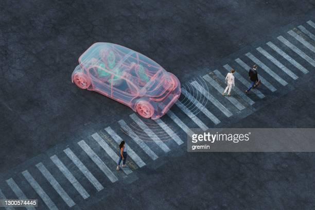 generic autonomous concept car - autonomous technology stock pictures, royalty-free photos & images