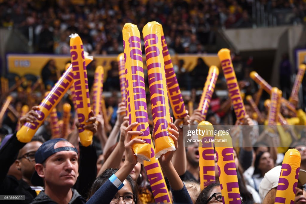 A generic basketball photo during the game between the Denver Nuggets and the Los Angeles Lakers on March 13, 2018 at STAPLES Center in Los Angeles, California.