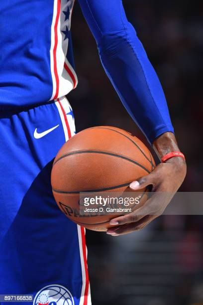 A generic basketball photo of a player holding the Official @NBA Spalding basketball during the game against the Toronto Raptors on December 21 2017...