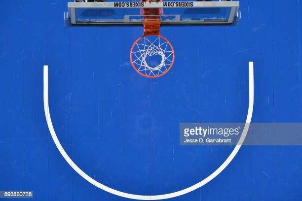 A generic basketball photo of an overhead camera during the Philadelphia 76ers game against the Oklahoma City Thunder on December 15 2017 in...