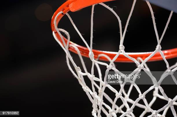 A generic basketball photo of the net during the LA Clippers game against the Philadelphia 76ers at Wells Fargo Center on February 10 2018 in...