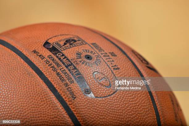 A generic basketball photo of the Official @NBA Spalding basketball during the New Orleans Pelicans game against the Orlando Magic on December 22...