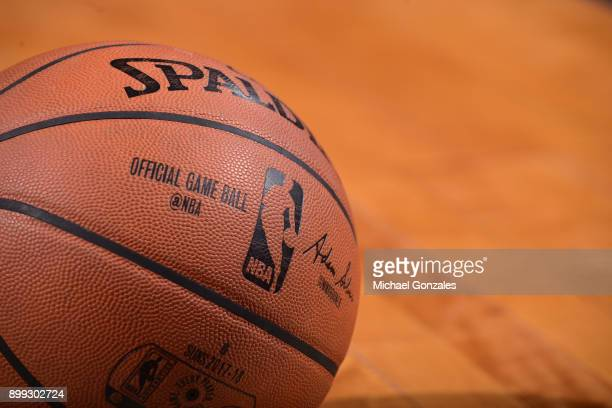 A generic basketball photo of the Official @NBA Spalding basketball during the Memphis Grizzlies game against the Phoenix Suns on December 26 2017 at...