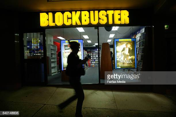Generic Blockbuster video store Maroubra Sydney 11 March 2007 AFR Picture by LOUISE KENNERLEY