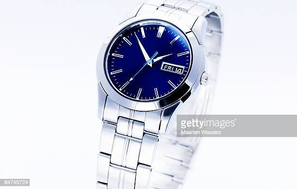 generic blue and silver watch for men