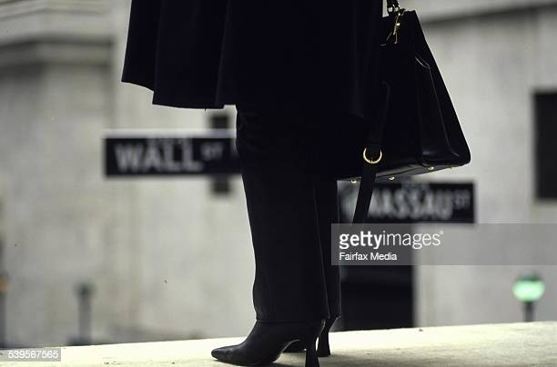 A generic businesswoman in the financial district near Wall Street in New York on 13 June 2001 AFR GENERIC Picture by GREG NEWINGTON