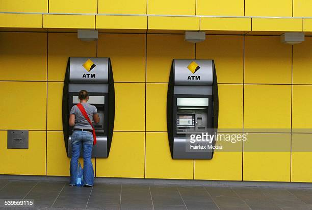 Generic commonwealth bank atm money savings loan 14 April 2005 AFR Picture by GABRIELE CHAROTTE