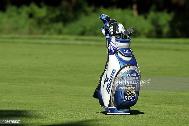 A generic detail of Luke Donald's Mizuno golf bag during the second round of The Barclays at the Ridgewood Country Club on August 27 2010 in Paramus...