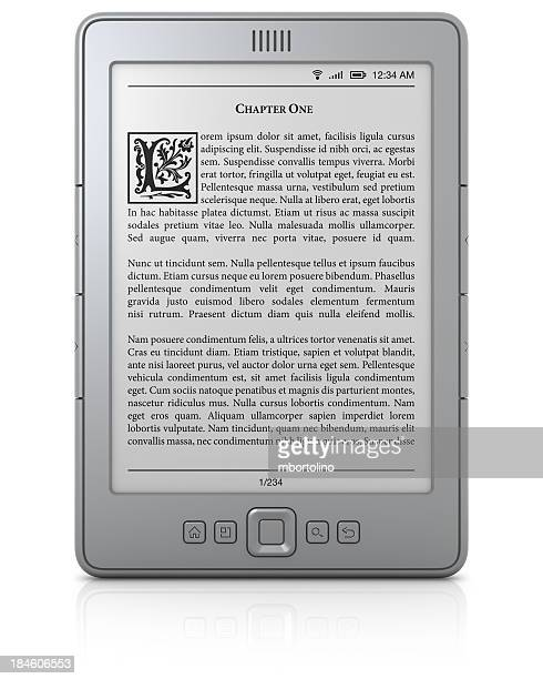 Generic e-book reader with text