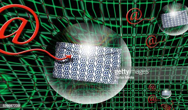 Generic electronic technology 15 September 2005 AFR Photo Illustration by PETER RICHES Note This image has been digitally manipulated