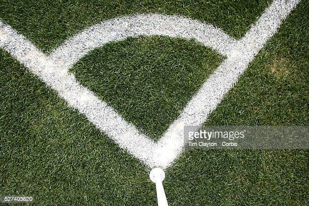 A generic image of a professional soccer corner flag and markings Photo Tim Clayton