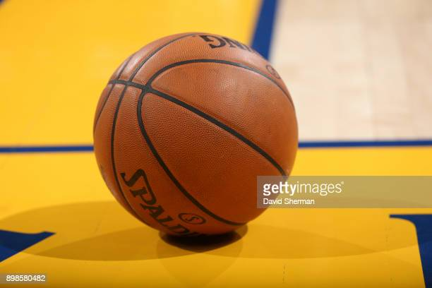 Generic image of the Spalding basketball used during game between Cleveland Cavaliers and Golden State Warriors on December 25 2017 at ORACLE Arena...