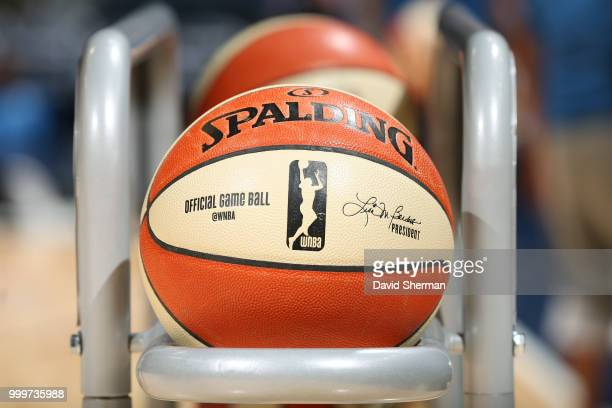 Generic image of WNBA basketball before game between Connecticut Sun and Minnesota Lynx on July 15 2018 at Target Center in Minneapolis Minnesota...