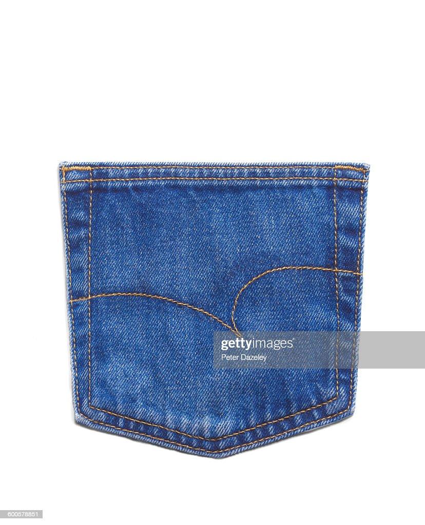 Generic jeans back pocket : Stock Photo