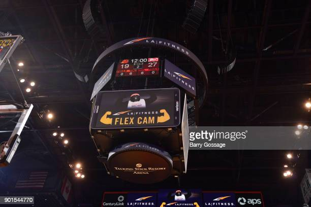 A generic look at a the jumbotron during a Flexcam in the game of the Atlanta Hawks against the Phoenix Suns on January 2 2018 at Talking Stick...
