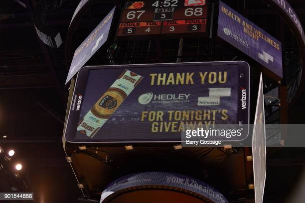 A generic look at a the jumbotron during a giveaway in the game of the Atlanta Hawks against the Phoenix Suns on January 2 2018 at Talking Stick...