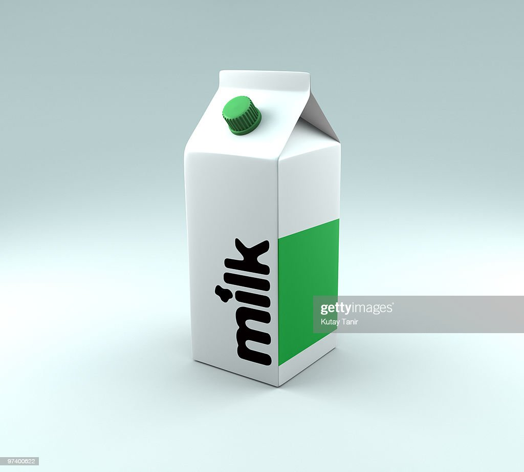 A generic milk carton : Stock Photo