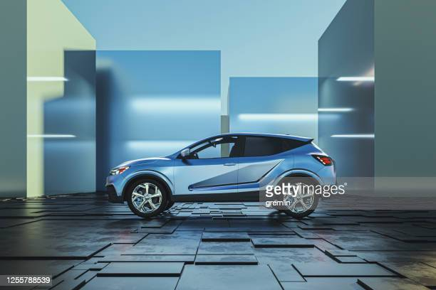 generic modern car as product shot - hybrid car stock pictures, royalty-free photos & images
