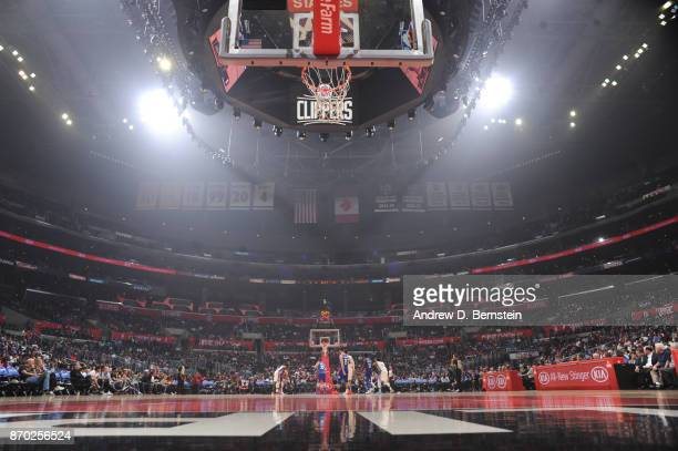 A generic overall view of the court of the Memphis Grizzlies against the LA Clippers on November 4 2017 at STAPLES Center in Los Angeles California...