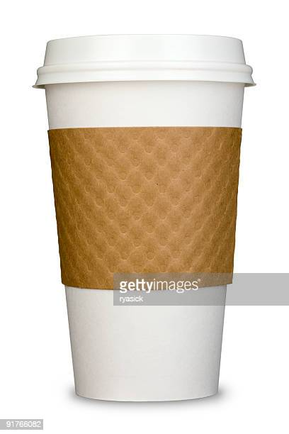 Generic Paper Insulated Coffee Cup with Lid and cardboard Sleeve