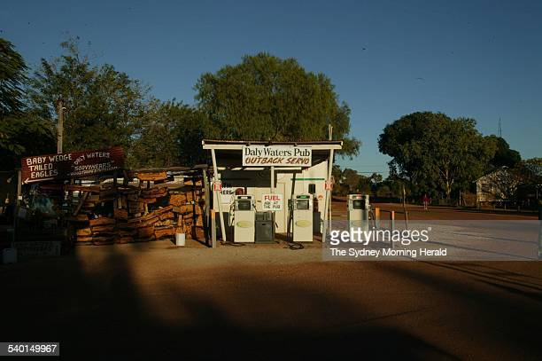 Generic petrol bowsers in the Australian outback 9 July 2006 SMH Picture by GLENN CAMPBELL