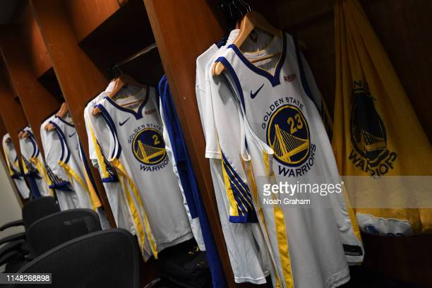 Generic photo of Draymond Green of the Golden State Warriors jersey worn for Game Three of the NBA Finals on June 5 2019 at ORACLE Arena in Oakland...