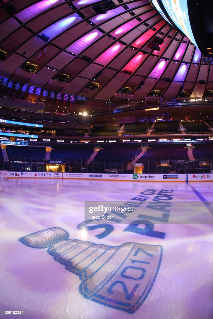 Generic Photo of Madison Square Garden prior to Game Three between the New York Rangers and the Montreal Canadiens during the Eastern Conference First Round of the 2017 NHL Stanley Cup Playoffs at Madison Square Garden on April 16, 2017 in New York City.