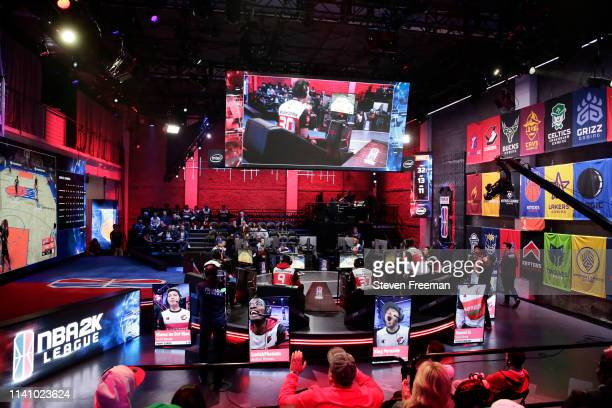 A generic photo of the arena during the game against Blazer5 Gaming and Knicks Gaming on May 2 2019 at the NBA 2K Studio in Long Island City New York...