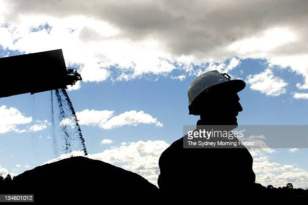 Generic picture of a miner at South Bulga coal mine in the Hunter Valley on Tuesday 21 August 2001