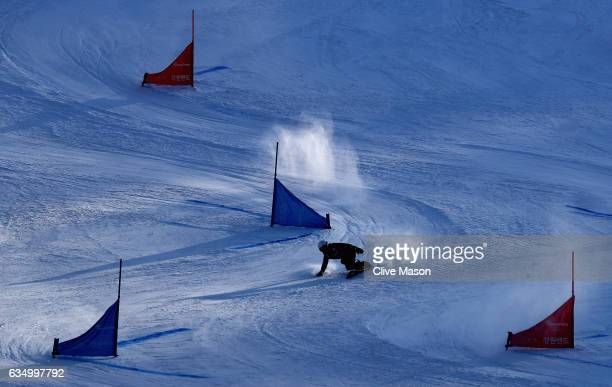 Generic race action during the FIS Freestyle World Cup Parallel Giant Slalom at Bokwang Snow Park on February 12 2017 in Pyeongchanggun South Korea