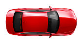 Generic red car - top angle