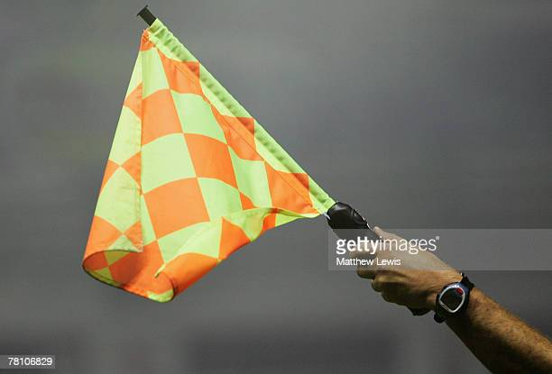 A generic Referee's Assistants flag during the CocaCola Championship match between Leicester City and Cardiff City at the Walkers Stadium on November...