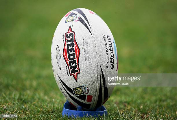 Generic Rugby League ball during the engage Super League match between St.Helens and Salford City Reds at Knowsley Road on April 9, 2007 in...