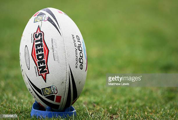 A generic Rugby League ball during the engage Super League match between StHelens and Salford City Reds at Knowsley Road on April 9 2007 in StHelens...