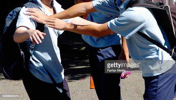 Generic school bullying at Kingsgrove High School 17 March 2006 SHD Picture by JANIE BARRETT